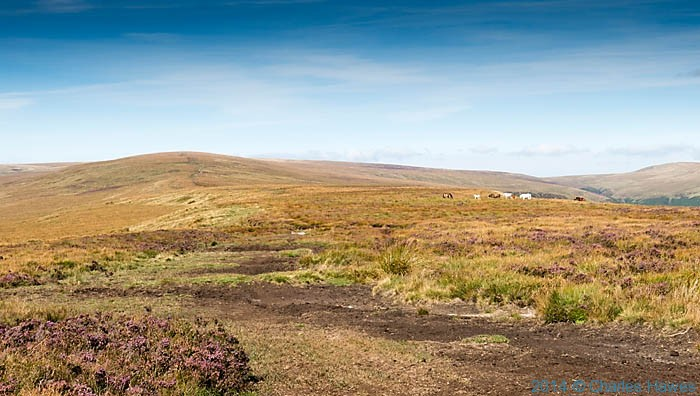 View to Rhos Derion in the Black Mountains, Wales, photographed by Charles Hawes