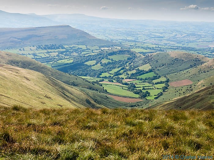 View to Mynydd Troed from near Waun Fach in the Brecon Beacons National Park, photographed by Charles Hawes
