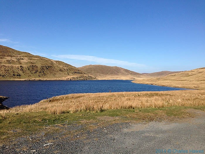 The Nant-y-moch reservoir below Plynlimon, photographed by Charles Hawes