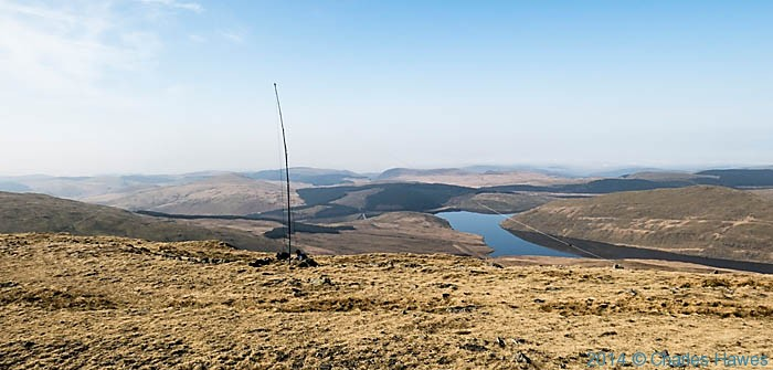 View from Plynlimon to east to the Nant-y-moch reservoir, photographed by Charles Hawes