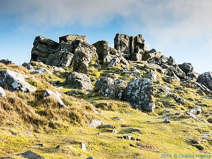 The summi9t of SWugar Loaf, near Abergavenny, photographed by Charles Hawes