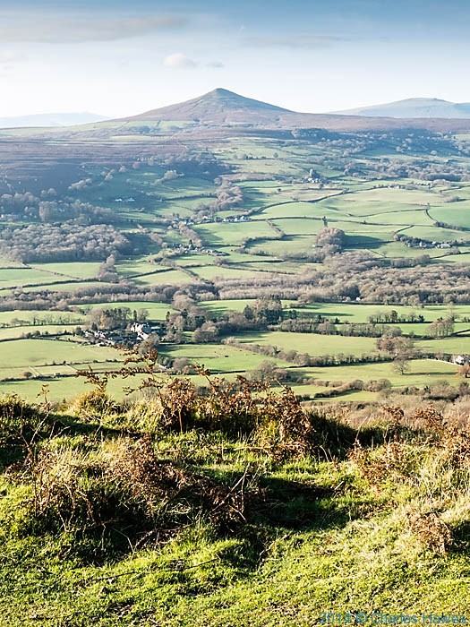 View west to Sugar Loaf from the Skirrid (Ysgyryd Fawr) photographed by Charles Hawes