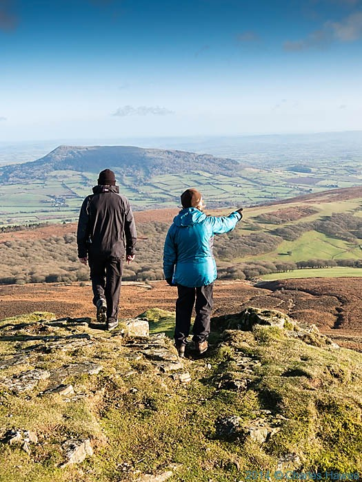 View from the summit of Sugar Loaf, near Abergavenny, photographed by Charles Hawes