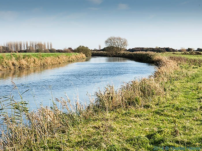 The River Stour near Sandwich photographed from The saxon Shore Way by Charles Hawes