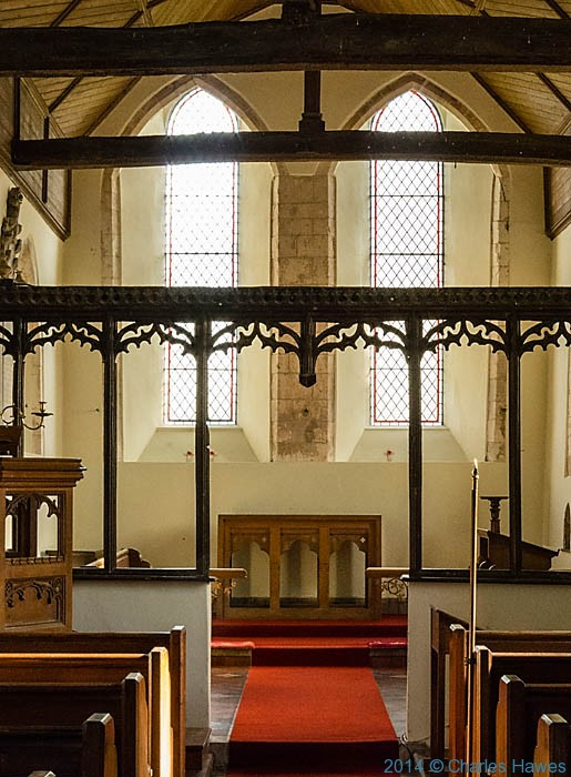 Interior of St Mary's church, Stodmarsh, photographed by Charles Hawes