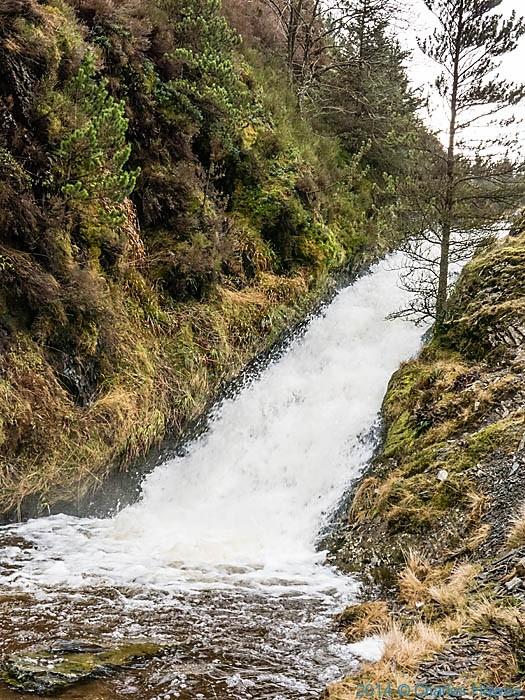 Afon Clywedog, near Dylife, Powys, photographed by Charles Hawes