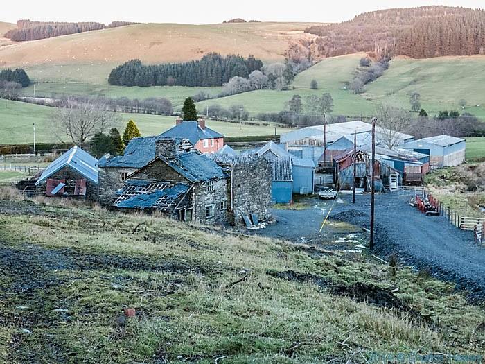 Hirnant Farm, near Dylife, Powys, photographed by Charles Hawes