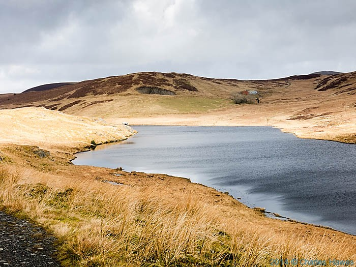 Bugeilyn lake near Dylife, Powys, photographed by Charles Hawes