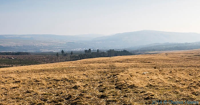 View to Ystradgynlais from Cefn Mawr in the Brecfon Beacons National Park, photographed by Charles Hawes