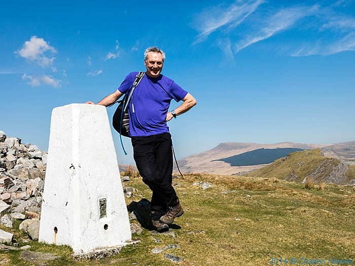 trig point on Cribarth, Brecon Beacons National Park, photographed by Charles Hawes