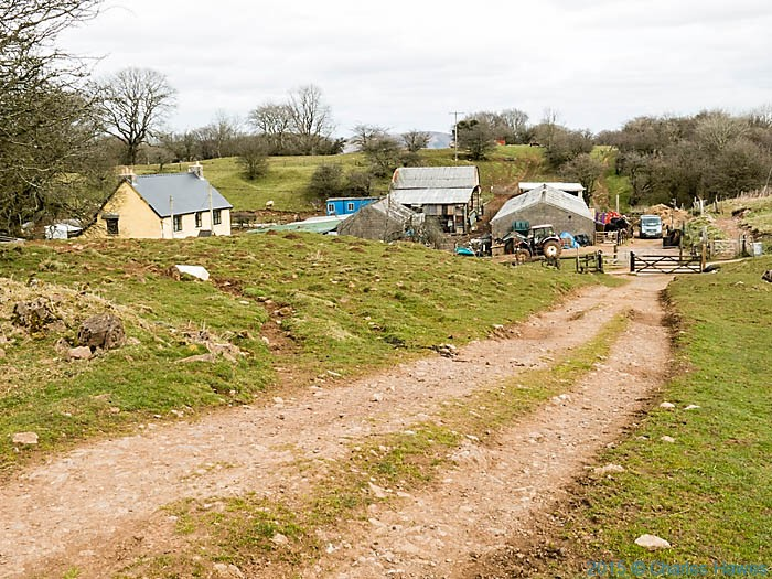 Cefn Onn Farm, photographed from the Rhymney Valley Ridgeway Walk by Charles Hawes
