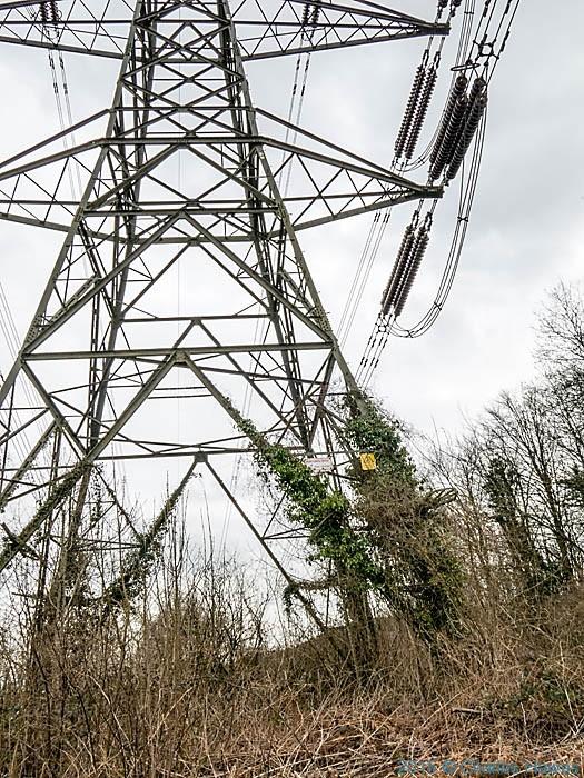 Pylon on the Rhymney Valley Ridgeway Walk, photographed by Charles Hawes