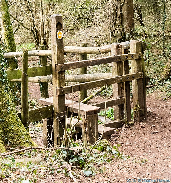 Stile on the Rhymney Valley and North Cardiff Craigs walk, photographed by Charles Hawes