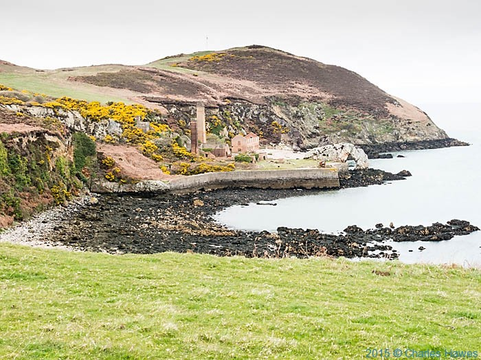 The Borthwen Brickworks photographed from the Wales Coast Path in Anglesey by Charles Hawes