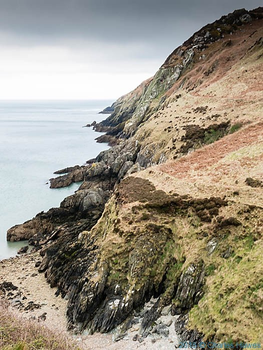 Dinas Gynfor photographed from the Wales Coast Path in Anglesey by Charles Hawes