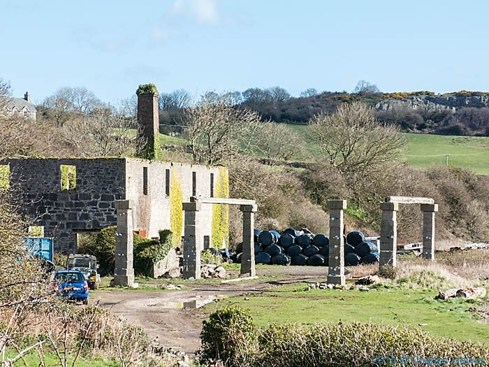 Building associated with Penmon quarry, Anglesey, photographed from The Wales Coast Path by Charles Hawes