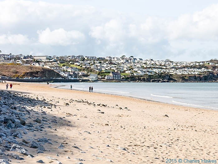 View to Benllech from the beach, photographed from the Wales Coast Path by Charles Hawes
