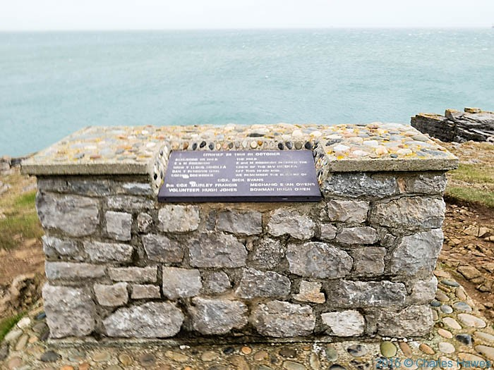 The Hindlea seat near moelfre, Anglesey, photographed from The Wales Coast Path by Charles Hawes