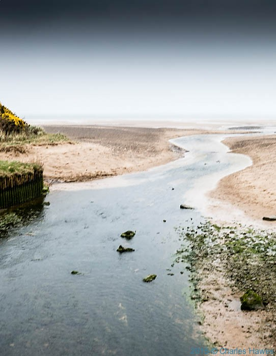 Nant y Perfedd running into lligwy Bay, photographed from The Wales Coast Path by Chgarles Hawes