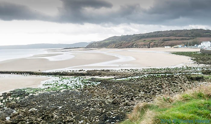Benllech beach photographed from the Wales Coast Path in Anglesey by Charles Hawes