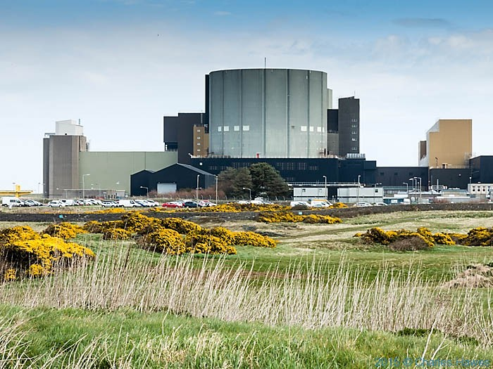 The Wylfa Nuclear Power Station, Anglesy, photographed from The Wales Coast Path by Charles Hawes