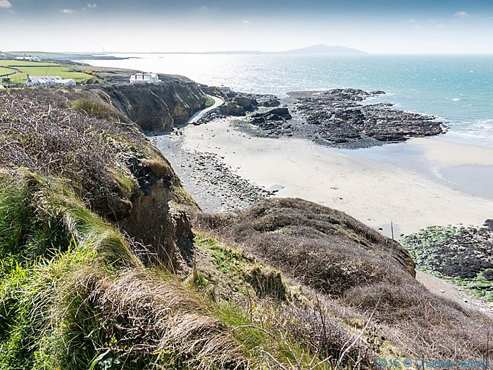 Church Bay, Anglesey, photographed from The Wales Coast Path by Charles Hawes
