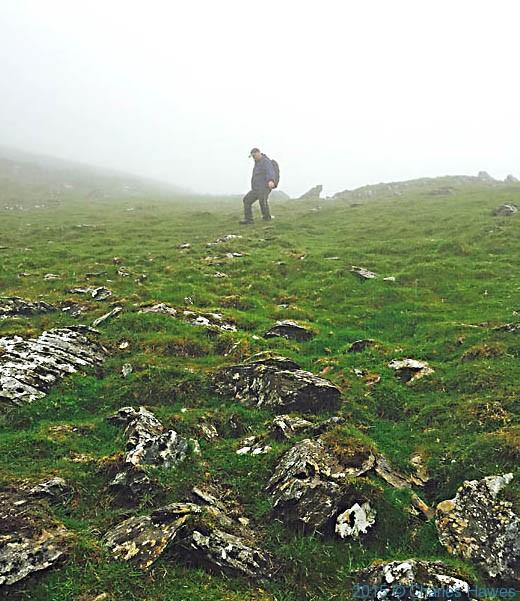 Walking off Moel Heborg, Snowdonia, photographed by Charles Hawes