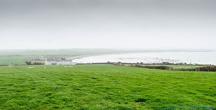 View to Traeth y Gribin , Anglesey, photographed from The Wales Coast Path by Charles Hawes