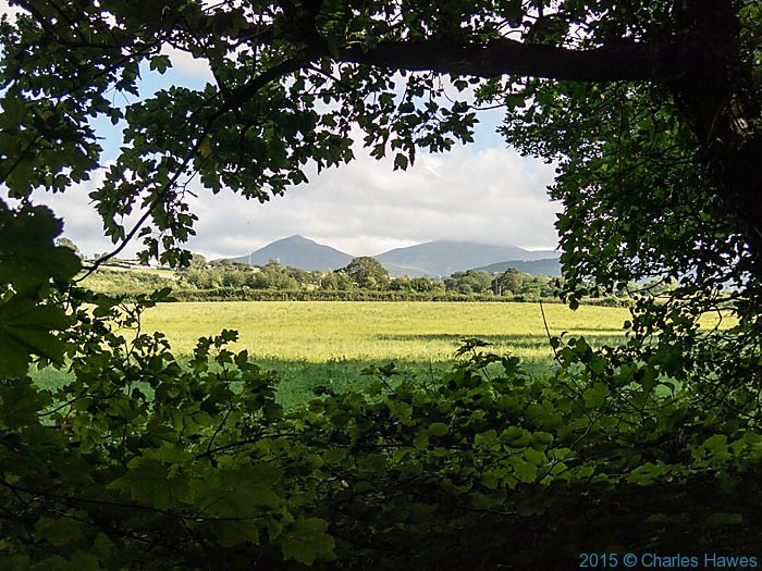 view to Snowdonia from the wales Coast path near Bangor, photographed by Charles Hawes