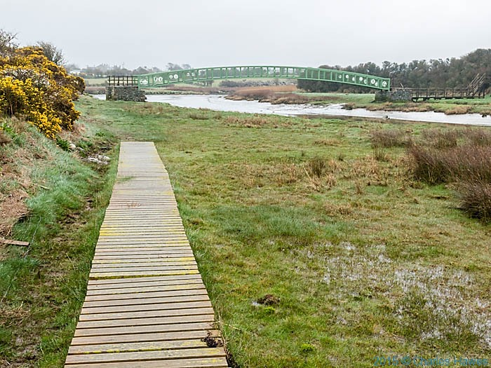 Bridge across the Afon Alaw near Llanfachraeth, Anglesey, photographed from The Wales Coast Path by Charles Hawes
