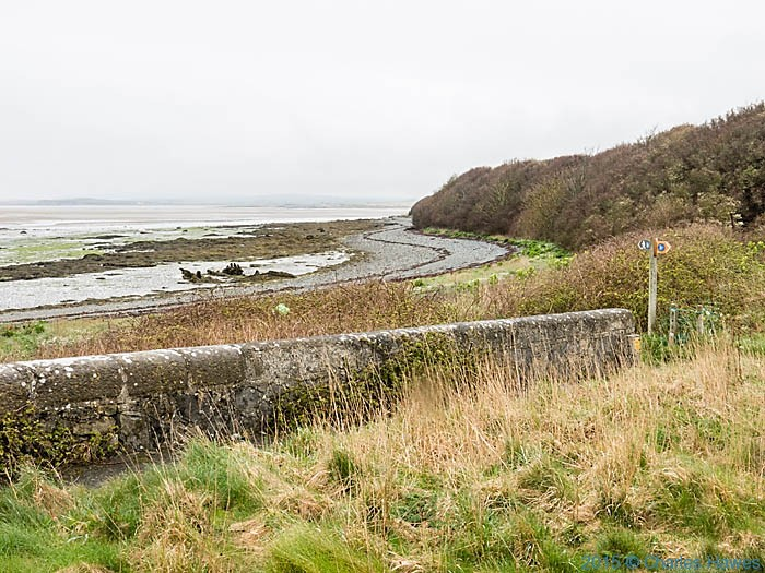 View from the Stanley Embankment, Anglesey, photographed from The Wales Coast Path by Charles Hawes