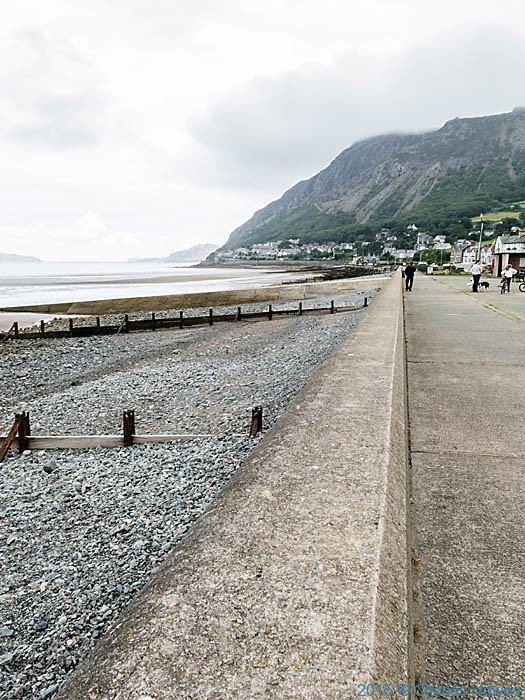 The promenade at Llanfairfechan, photographed from The Wales Coast Path by Charles Hawes