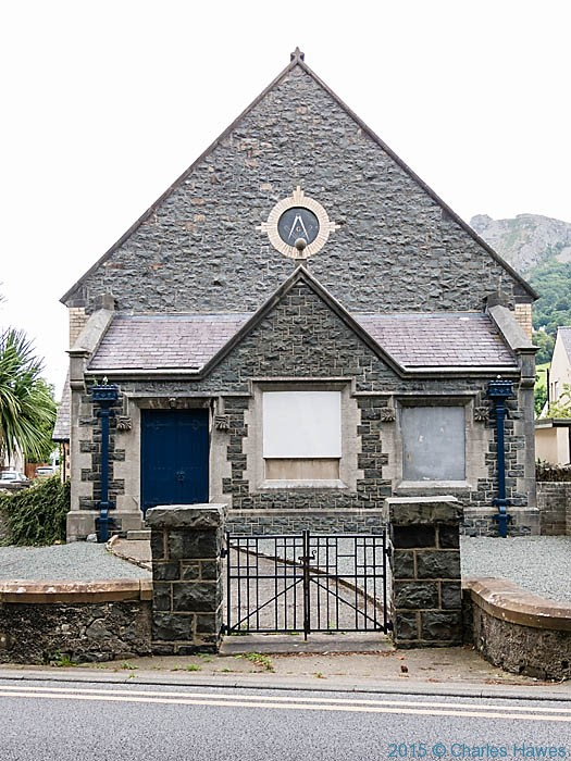 Masonic hall in Llanfairfechan, photographed by Charles Hawes