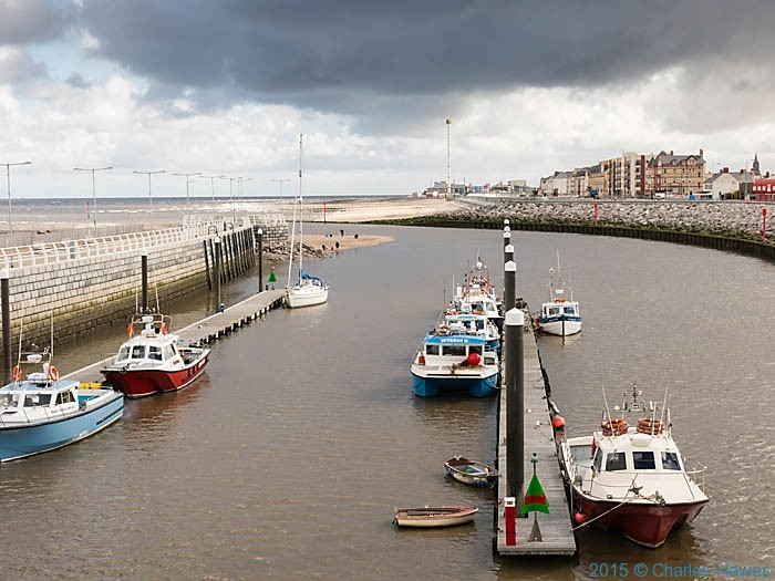 View to Rhyl from the wales Coast Path, photographed by Charles Hawes