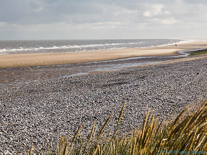 Beach near Pensarn, photographed from The Wales Coast Path by Charles Hawes