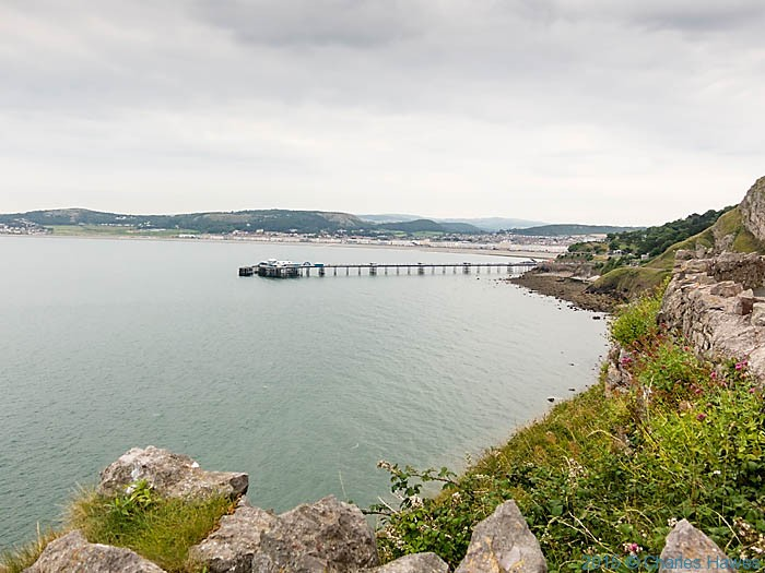 View to Llandudno Pier, photographed from The Wales Coast Path by Charles Hawes