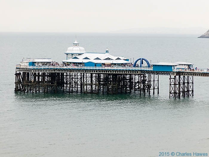 Llandudno Pier, photographed from the Wales Coast Path on Great Orme by Charles Hawes