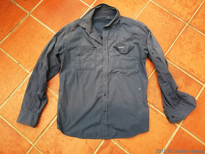 Craghoppers Solar Dry long sleeve shirt, photographed by Charles Hawes