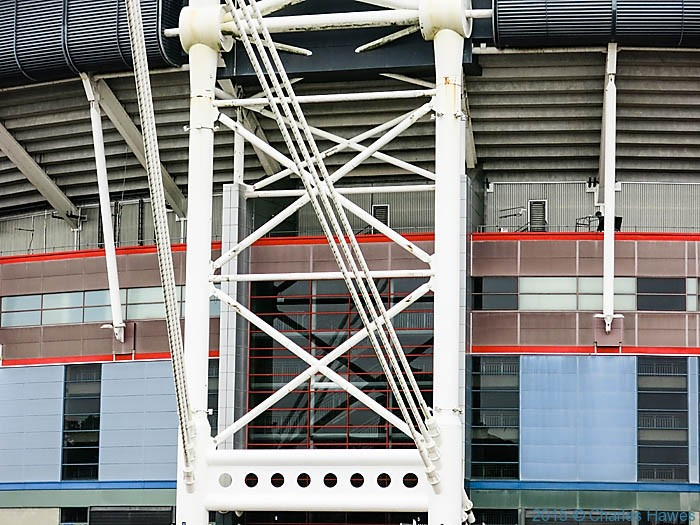 Millennium Stadium, Cardiff, photographed from The Cambrian Way by Charles Hawes