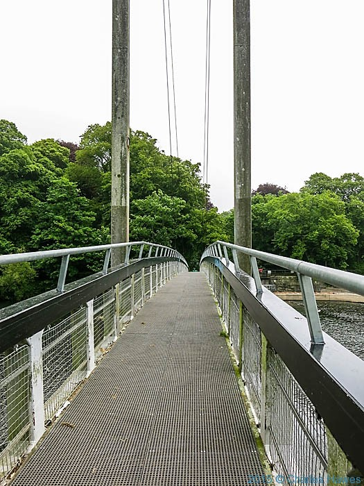 The Blackweir Footbridge, Cardiff, photographed from the Cambrian Way by Charles Hawes