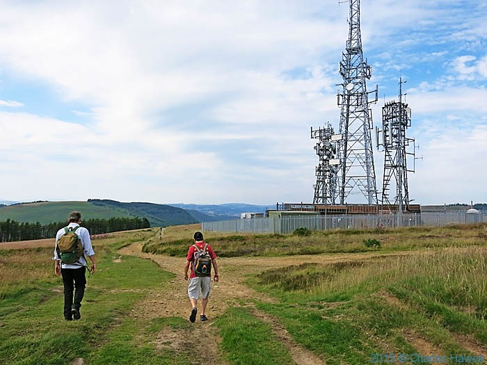 Masts on Mynydd Machen, photographed from The Cambrian Way by Charles Hawes
