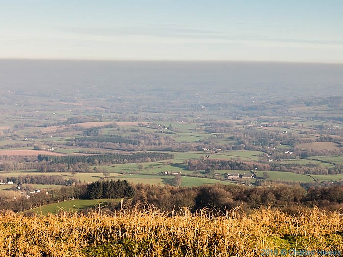 The Usk Valley, photographed from The Cambrian Way by Charles Hawes