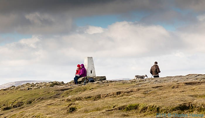 Trig point on Sugar Loaf, photographed from The Cambrian Way by Charles Hawes