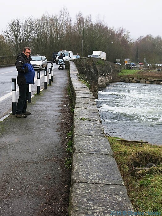 Crossing the Usk on the Cambrian Way at Abergavenny, photographed by Charles Hawes