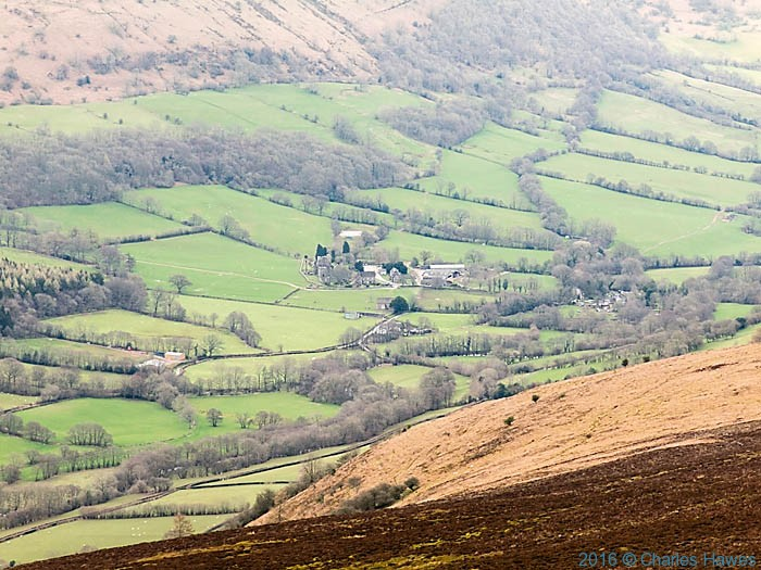 View to Llanthony Priory, photographed from The Cambrian Way by Charles Hawes
