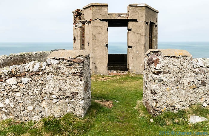 Lookout post at Dinas Gynfor photographed from the Wales Coast Path in Anglesey by Charles Hawes
