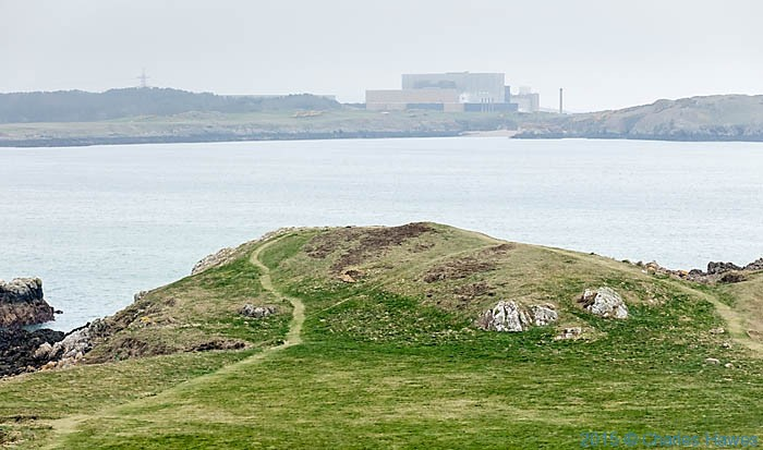 Wylfa power station near Cemaes photographed from the Wales Coast Path in Anglesey by Charles Hawes
