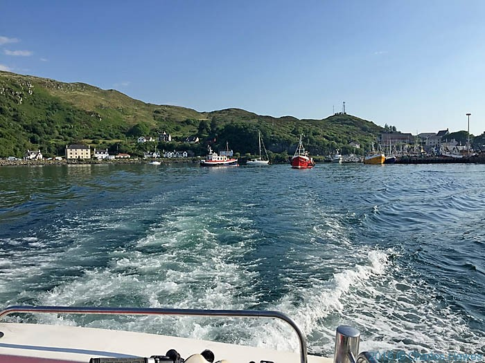 Mallaig from the Knoydart ferry, photographed by Charles Hawes