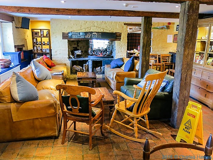 Main Bar in Felin Fach Griffin, Brecon, photographed by Charles Hawes