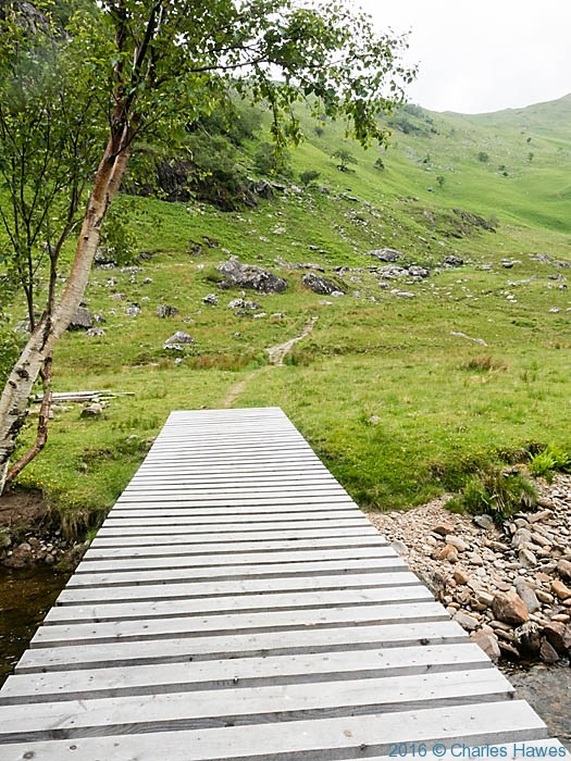 Path approaching Meall Buidhe, Knoydart, Scotland, photographed by Charles Hawes